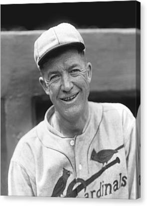 Grover Cleveland Alexander Leaning Smiling Canvas Print by Retro Images Archive
