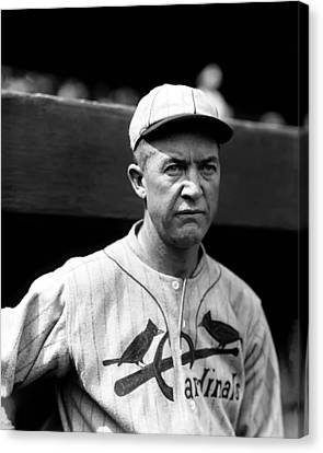 Grover Cleveland Alexander Outside Dugout Canvas Print by Retro Images Archive