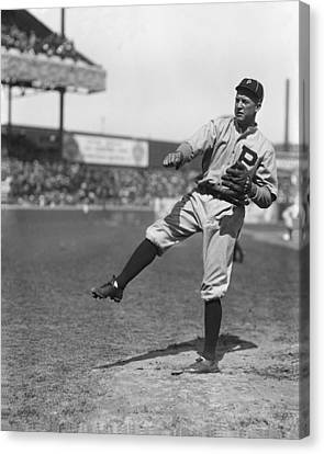 Grover Cleveland Alexander Pre Game Pitching Canvas Print by Retro Images Archive