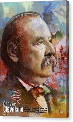 Grover Cleveland Canvas Print by Corporate Art Task Force