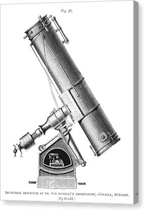 Grubb Equatorial Telescope, Hungary Canvas Print by Science Photo Library