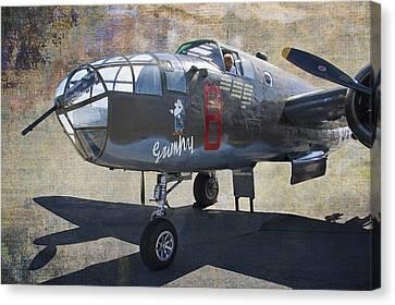 Grumpy  B-25 D Mitchell Bomber  /  43-3318 Canvas Print by Daniel Hagerman