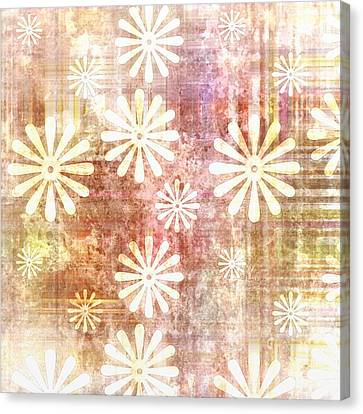 Grunge Flowers Canvas Print by Gina Lee Manley