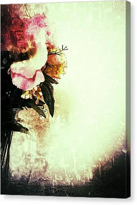 Grunge Flowers Canvas Print by Isabella Abbie Shores