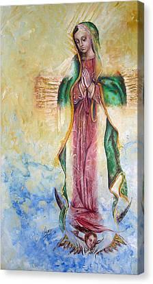 Guadalupana Canvas Print by Karina Llergo Salto