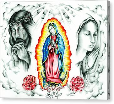 Guadalupe Canvas Print by Eddie Egesi