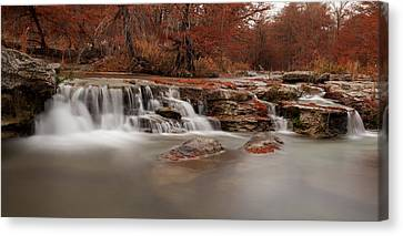 Guadalupe River Panorama Canvas Print by Paul Huchton