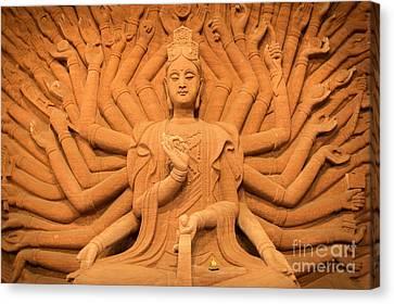 Guanyin Bodhisattva Canvas Print by Dean Harte