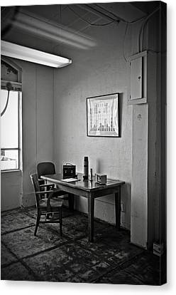 Guard Dining Area In Alcatraz Prison Canvas Print by RicardMN Photography