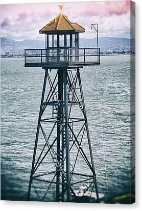 Guard Tower Alcatraz Canvas Print by Daniel Hagerman