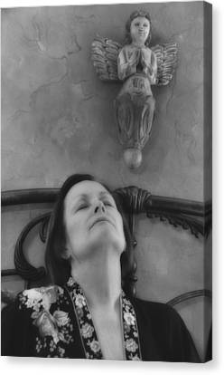Guardian Angel Bw Canvas Print by Ron White