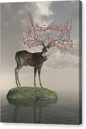 Guardian Of Spring Canvas Print by Cynthia Decker