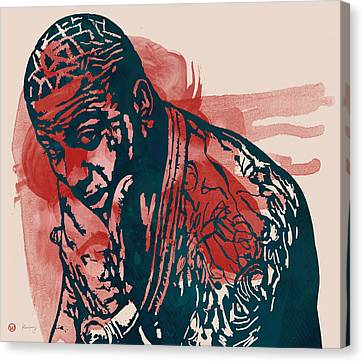 Gucci Mane - Pop Stylised Art Sketch Poster Canvas Print by Kim Wang