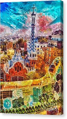 Guell Park Canvas Print by Mo T