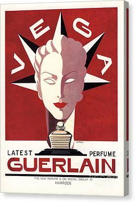Guerlain 1940s Uk Guerlain   Vega Art Canvas Print by The Advertising Archives