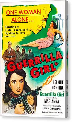 Guerrilla Girl, Us Poster, Bottom Left Canvas Print by Everett