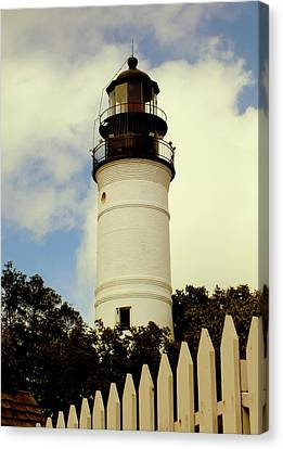 Guiding Light Of Key West Canvas Print by Karen Wiles