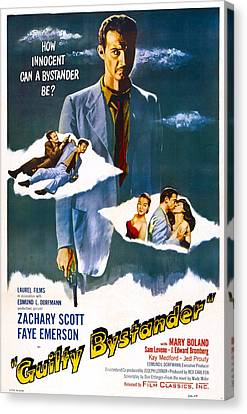Guilty Bystander, Us Poster, Zachary Canvas Print by Everett