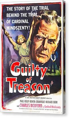 Guilty Of Treason, Us Poster, Bonita Canvas Print by Everett