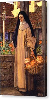 Guinevere Canvas Print by Eleanor Fortescue Brickdale