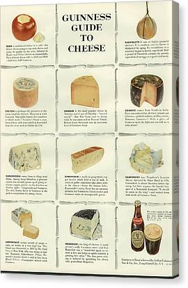 Guinness Guide To Cheese Canvas Print by Georgia Fowler