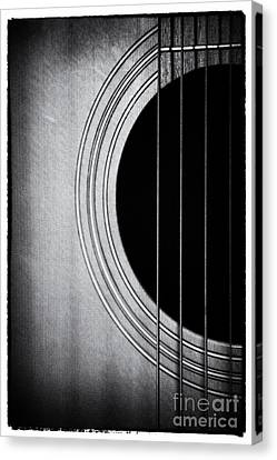 Guitar Film Noir Canvas Print by Natalie Kinnear