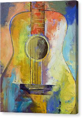 Guitar Melodies Canvas Print by Michael Creese