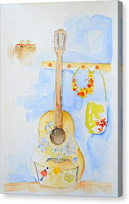 Guitar Of A Flower Girl Canvas Print by Patricia Awapara