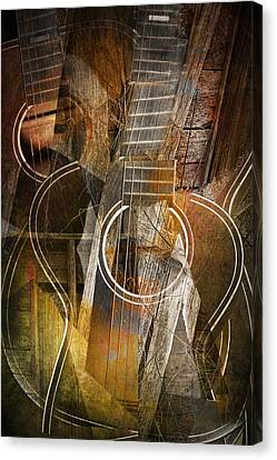 Guitar Works Canvas Print by Randall Nyhof