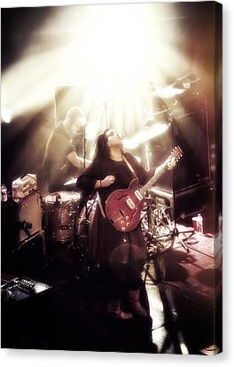 Guitarist Brittany Howard - Alabama Shakes In Concert Canvas Print by Jennifer Rondinelli Reilly