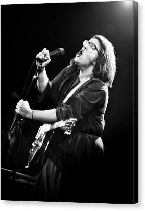 Guitarist Brittany Howard In Black And White - Alabama Shakes Live In Concert Canvas Print by Jennifer Rondinelli Reilly