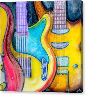 Guitars Canvas Print by Debi Starr
