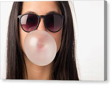 Gum Girl Canvas Print by Carlos Caetano