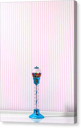 Gumball Machine In A Candy Store Canvas Print by Allan Swart