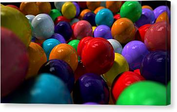 Gumballs Up Close And Personal Canvas Print by Allan Swart