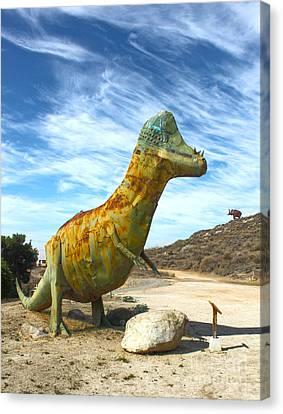 Gumby-saurus Canvas Print by Gregory Dyer