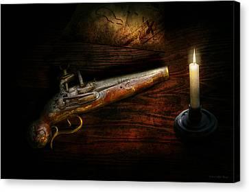 Gun - Pistol - Romance Of Pirateering Canvas Print by Mike Savad