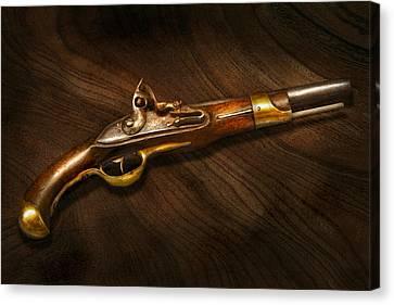 Gun - Pistols At Dawn Canvas Print by Mike Savad