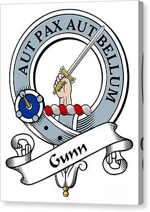 Gunn Clan Badge Canvas Print by Heraldry