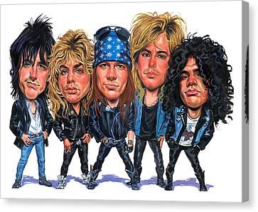 Guns N' Roses Canvas Print by Art