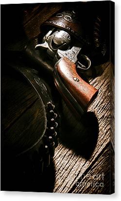 Gunslinger Tool Canvas Print by Olivier Le Queinec