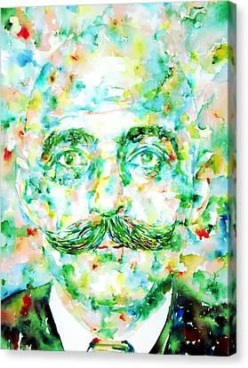 Gurdjieff- Watercolor Portrait Canvas Print by Fabrizio Cassetta