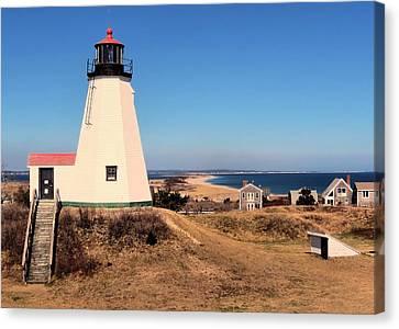 Gurnet Lighthouse Canvas Print by Janice Drew