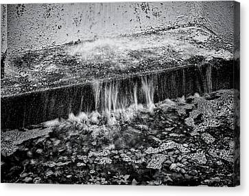 Gutter In Bw Canvas Print by Rudy Umans