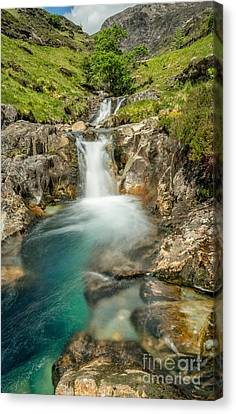 Gwynant Waterfall Canvas Print by Adrian Evans