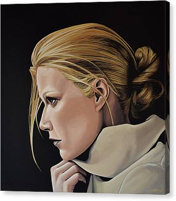 Gwyneth Paltrow Painting Canvas Print by Paul Meijering