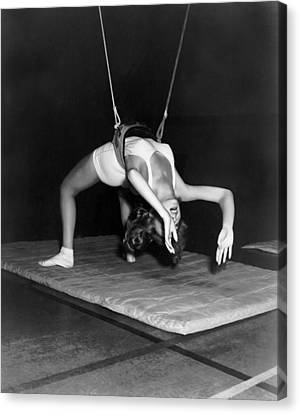 Gymnasium Harness Workout Canvas Print by Underwood Archives