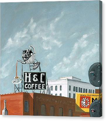 H And C Coffee Canvas Print by Todd Bandy