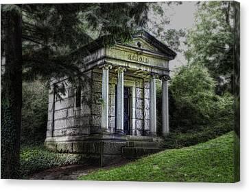 H C Ford Mausoleum Canvas Print by Tom Mc Nemar