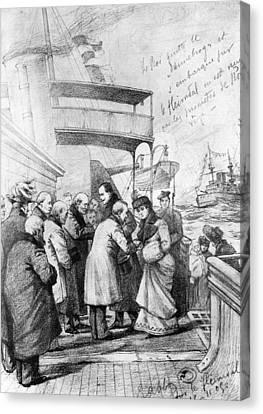 Haakon Vii & Queen Maud Of Norway Canvas Print by Granger